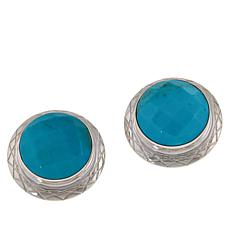 Jay King Sterling Silver Round Azure Peaks Turquoise Clip-On Earrings