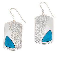 Jay King Sterling Silver Royal Blue Turquoise Drop Earrings