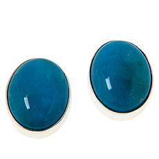 Jay King Sterling Silver Royal Blue Turquoise Oval Stud Earrings