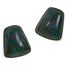 Jay King Sterling Silver Ruby-in-Zoisite Stud Earrings