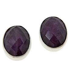 Jay King Sterling Silver Ruby Oval Earrings