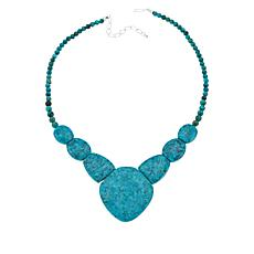 Jay King Sterling Silver Seven Peaks Turquoise Necklace