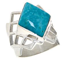 Jay King Sterling Silver Sonoran Blue Turquoise Ring