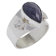 Jay King Sterling Silver Tanzanite Pear Shape Ring