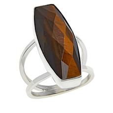 Jay King Sterling Silver Tiger's Eye Quartz Elongated Ring
