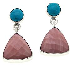 Jay King Sterling Silver Turquoise and Gemstone Drop Earrings