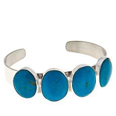 Jay King Sterling Silver White Cloud Turquoise Cuff