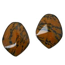 Jay King Sterling Silver Yellow and Black Dendritic Opal Earrings
