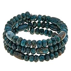 Jay King Teal Apatite Beaded Coil Bracelet