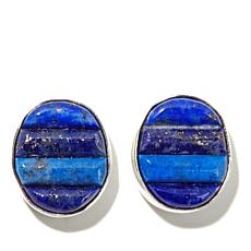 Jay King Tonal Lapis Inlay Sterling Silver Earrings