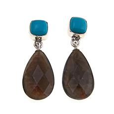 Jay King Turquoise and Labradorite Drop Earrings