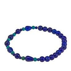 Jay King Turquoise and Lapis Bead Stretch Bracelet
