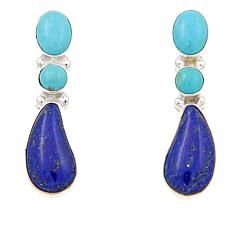 Jay King Turquoise and Lapis Drop Earrings