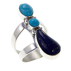 Jay King Turquoise and Lapis Sterling Silver Ring