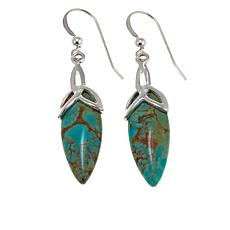 Jay King Tyrone Turquoise Drop Sterling Silver Earrings