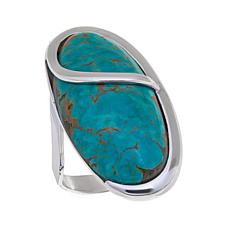 Jay King Tyrone Turquoise  Sterling Silver Oval Ring