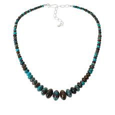 Jay King Windy Mountain Turquoise Graduated Bead Necklace