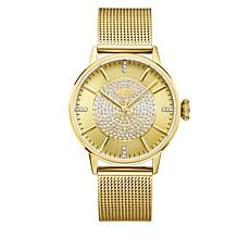 "JBW ""Belle"" Goldtone 12-Diamond Mesh Band Watch"