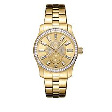 "JBW ""Celine"" 9-Diamond Goldtone Bracelet Watch"