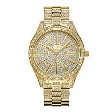 JBW Cristal 18K Gold-Plated Diamond and Crystal Bracelet Watch