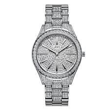 """JBW """"Cristal"""" Women's Silvertone 12-Diamond Bracelet Watch"""
