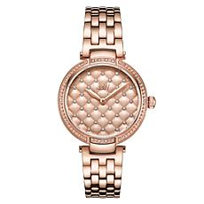 JBW Gala 18K Rose Gold-Plated Diamond and Crystal Bracelet Watch