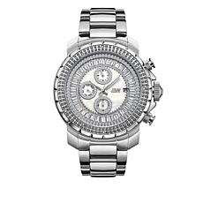 "JBW Men's ""Titus"" 12-Diamond Silvertone Bracelet Watch"