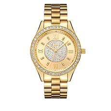 "JBW ""Mondrain"" 16-Diamond Goldtone Bracelet Watch"