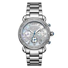 JBW Victory Stainless Steel Diamond Chronograph Bracelet Watch