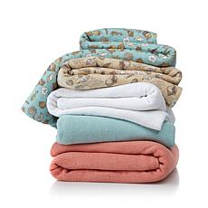 Jeffrey Banks 100% Cotton Lightweight Coastal Blanket