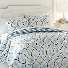Jeffrey Banks Nautical 3-piece Quilt Set
