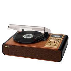 Jensen 3-Speed Turntable w/Radio, Cassette Player & Built-in Speakers
