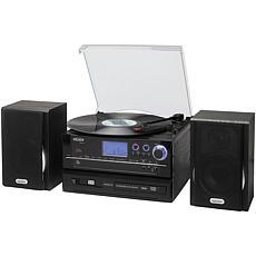Jensen Stereo Turntable CD Recording System w/Cassette Player & Radio