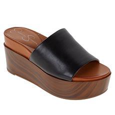 Jessica Simpson Crissie Platform Wedge One-Band Sandal