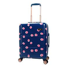 Jessica Simpson French Dot 20-inch Hardside Luggage - Navy