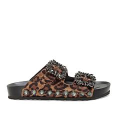 Jessica Simpson Gemelia Jeweled Buckle Slide Sandal