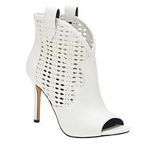 Jessica Simpson Jexell Leather Peep-Toe Shootie