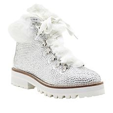 Jessica Simpson Norina Dazzling Hiker Boot with Faux Fur Trim