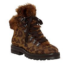 Jessica Simpson Norina Dazzling Hiker Boot with Faux Fur Trim