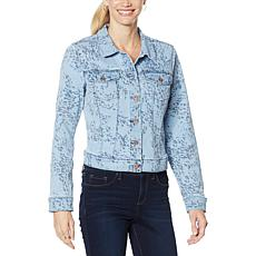 Jessica Simpson Peony Embroidered Denim Jacket
