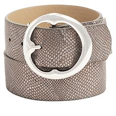 "Jessica Simpson Round Buckle 1"" Belt"