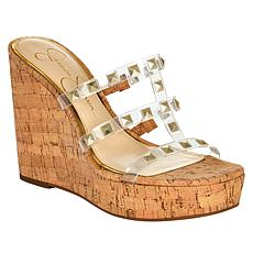 Jessica Simpson Sourie Studded Cork Wedge Sandal