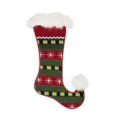 Jester Snowflakes Needlepoint Stocking