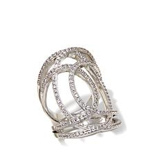 "Jewels by Jen ""Abstract"" Pavé Marquise Knuckle Ring"