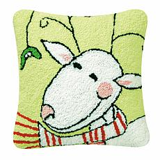 Jingle Reindeer Hooked Pillow