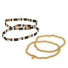 JK NY Beaded Stretch Bracelet 4-piece Set
