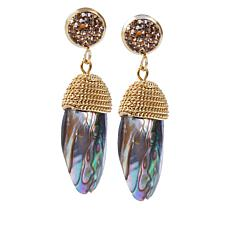 JK NY Multi-color Simulated Shell  Drop Earrings
