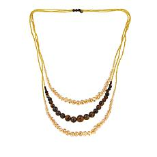 "JK NY Tiered 3-Row Beaded 28"" Necklace"