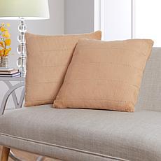 JM by Julien Macdonald Rhinestone Faux Fur Decorative 2-pack Pillows
