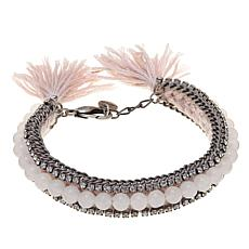 "Jo + le ""Playing Dress Up"" Beaded Tassel Bracelet"